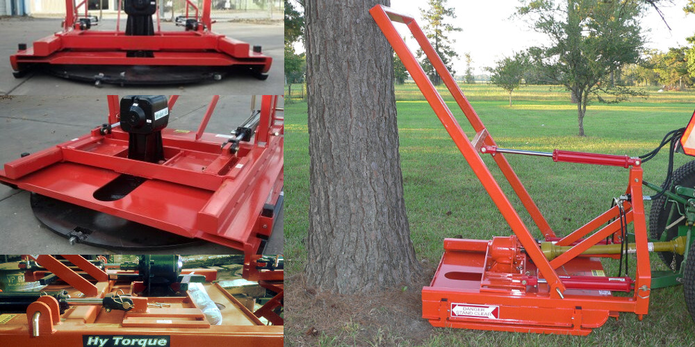 Image showing the Tree Hog tree cutter blade and the tree cutter in operation